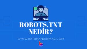 Robots.txt Nedir? Nasıl Düzenlenmelidir?