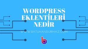 WordPress Eklentileri Nedir?