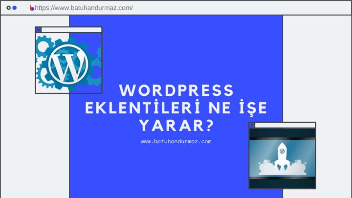 WordPress Eklentileri Ne İşe Yarar?
