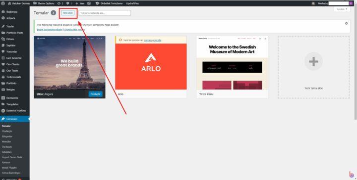 Wordpress Tema Yükleme Yöntemleri