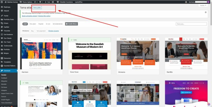 WordPress Zip Tema Nasıl Yüklenir?